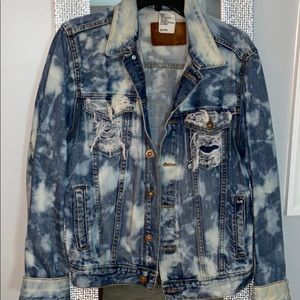 CUSTOM MADE DISTRESSED DENIM JACKET